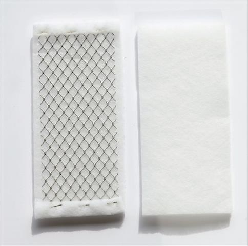 Gaskets in filtering material